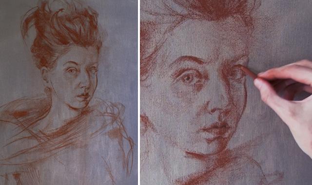 Fine art video bonus 2 - Sanguine Drawing