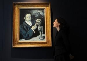 Picasso_Portrait de Angel Fernandez de Soto_The Absinthe Drinker
