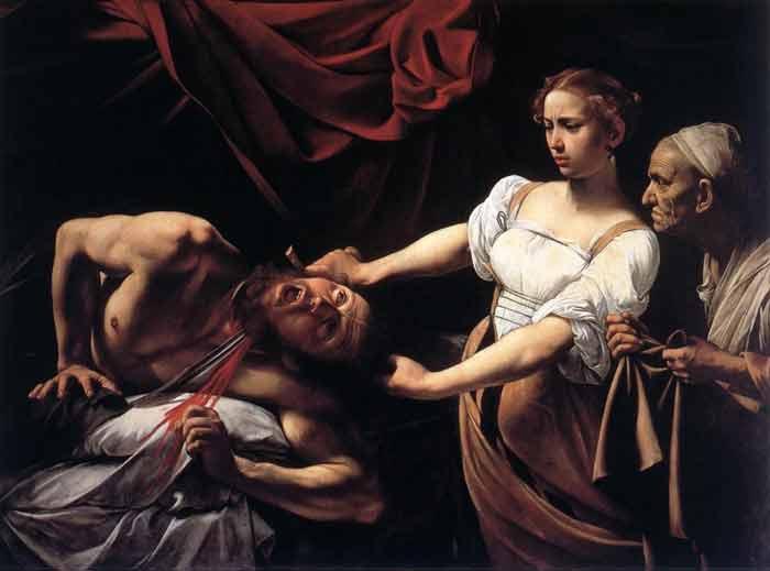 Caravaggio_Judith_Beheading_Holofernes_ Galleria Nazionale, Rome