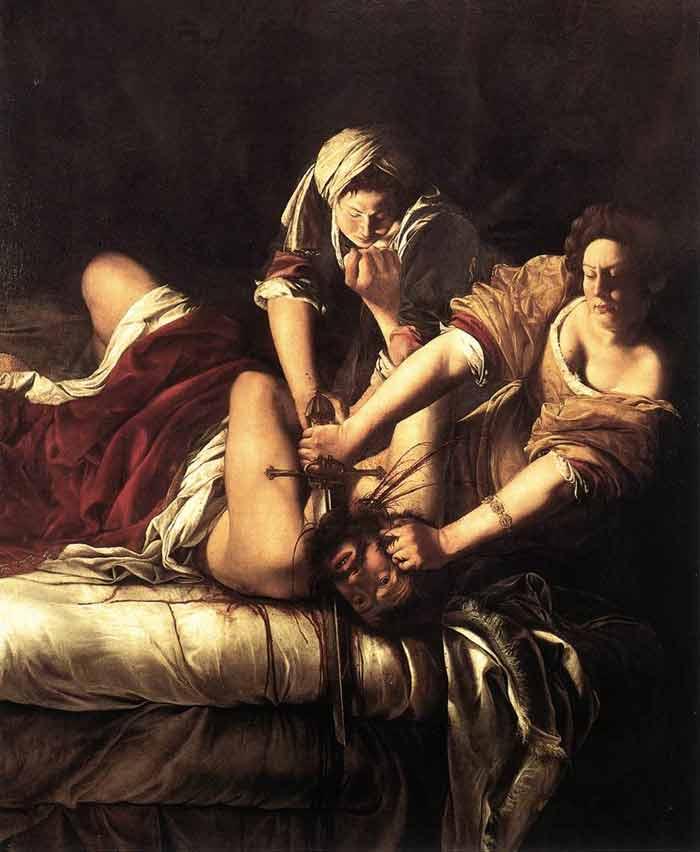 GENTILESCHI-Judith Slaying Holofernes- Uffizi, Florence-web art academy