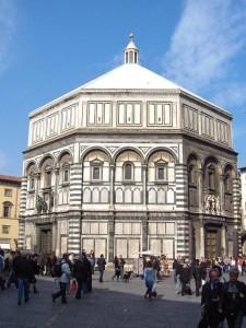 The Florence Baptistery or Battistero di San Giovanni