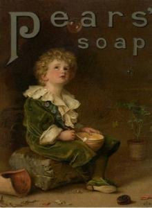 Realist Artist in the Studio-Pears soap Millais
