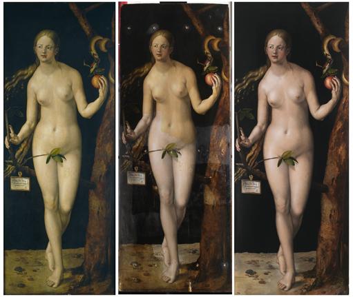 befor-and-after-restoration-Durer-Eve_-web-art-academy